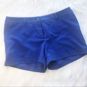 F21 royal blue cuffed shorts L